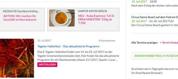 Kiezekatze Heiligensee & SAMPOR-KAFFEE-BERLIN