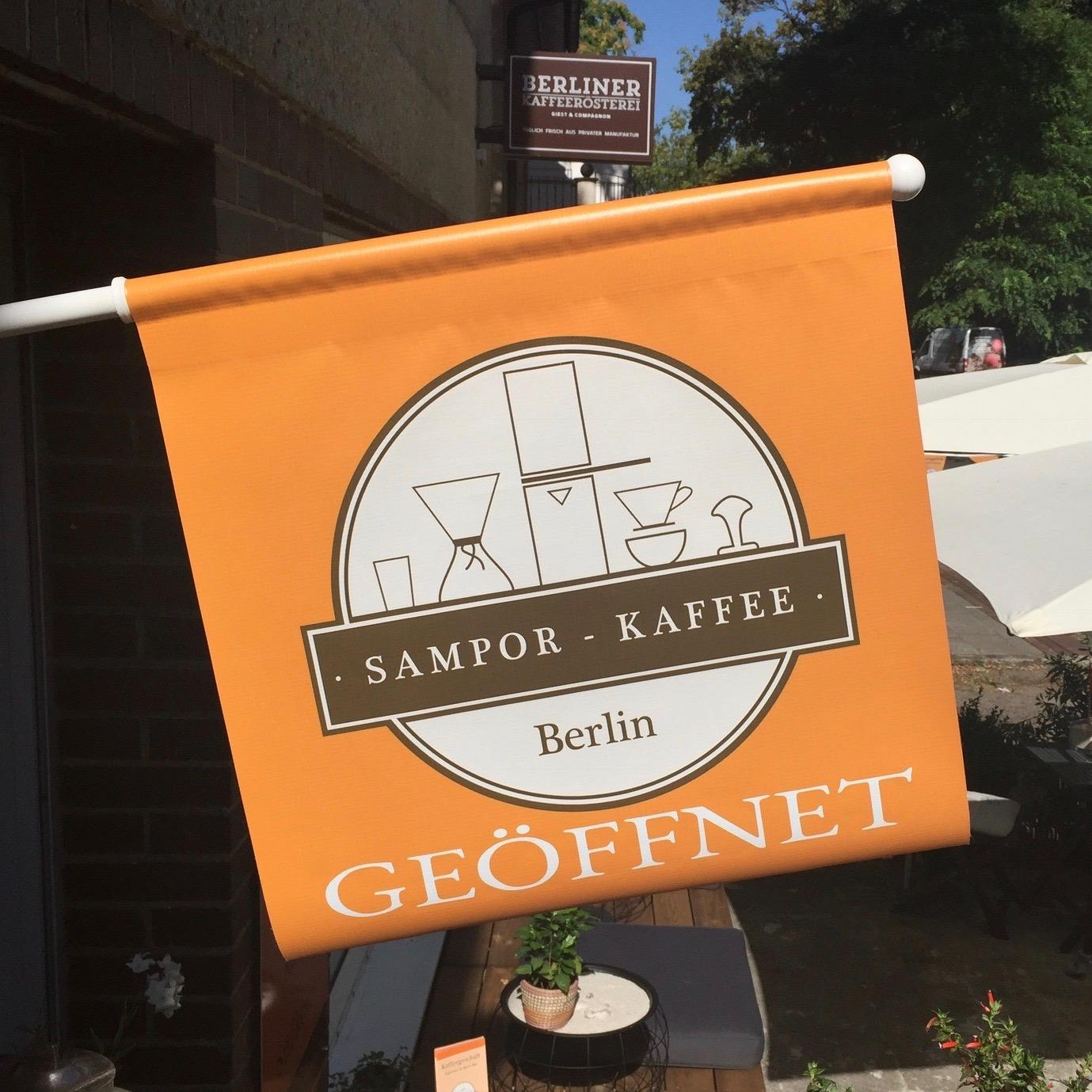 SKB / Logo · Brand · Marke · Fahne - SAMPOR-KAFFEE-BERLIN · 2017