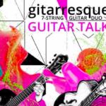 gitarresque · 7-STRINGS GUITAR DUO · GUITAR TALK, LOGO - BRAND