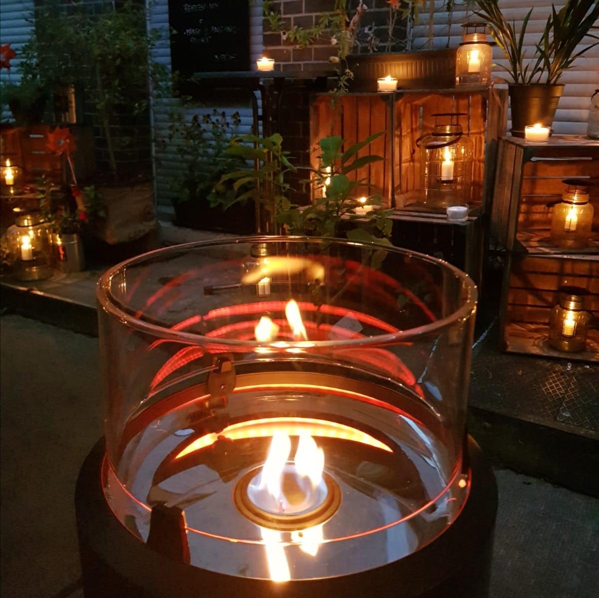 Terrassenfeuer, Kerzen & Laternen-Meer ...